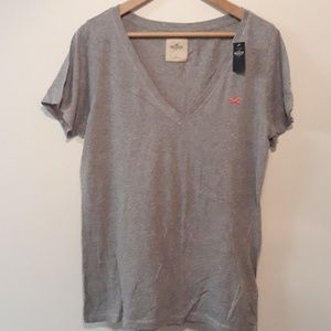 Hollister New Grey Tee Size L